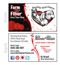Bleating Heart Haven Business Card