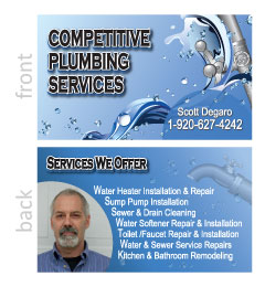 Competitive Plumbing Business Card
