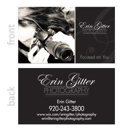 Erin Glitter Photography Business Card