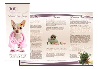 Pleasant Paws DaySpa Brochure