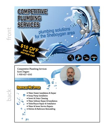 Competitive Plumbing Post Card