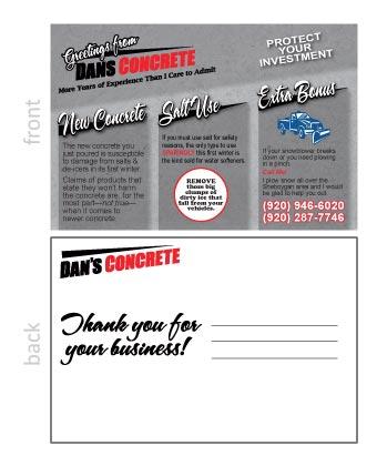 Dan's Concrete Post Card