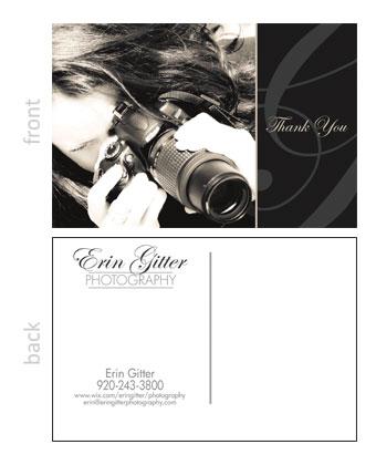 Erin Glitter Photography Post Card
