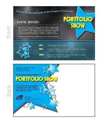 Portfolio Show Post Card