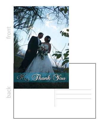 Thank you card example