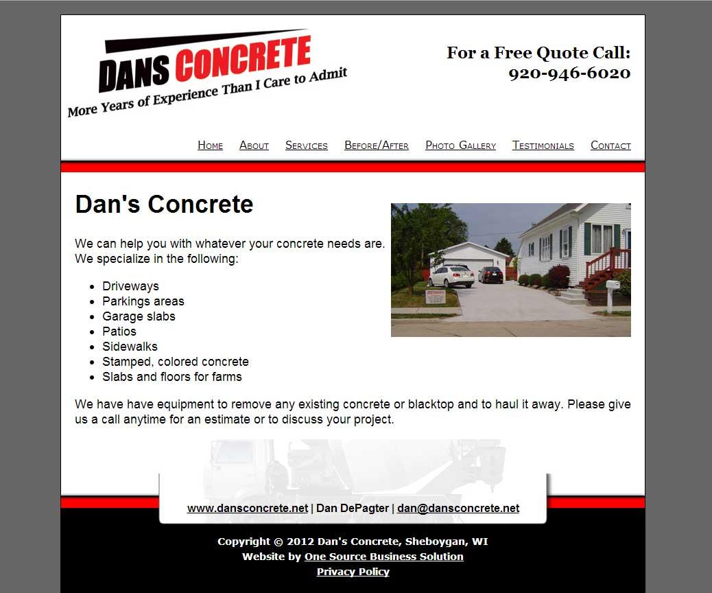 Dan's-concrete-website