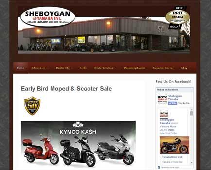 Sheboygan Yamaha Website
